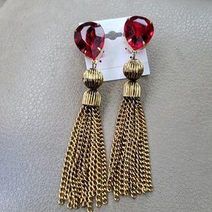 Jewelry - Big bold fashion earrings clip on NWOT